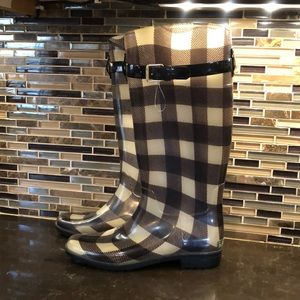 Ralph Lauren plaid rubber rain boots